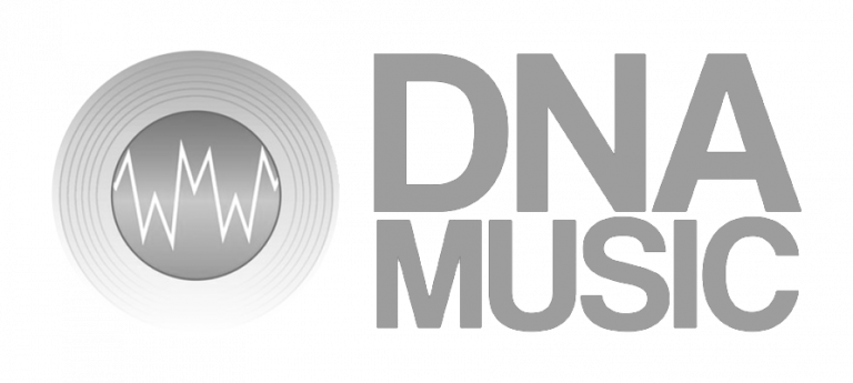 Logo DNA music gris